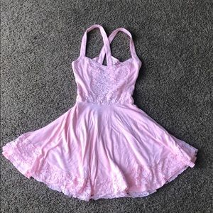 Hollister Light Pink Mini Dress